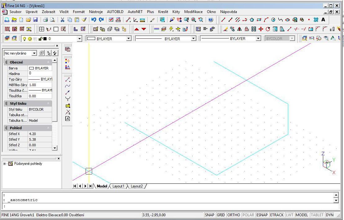 Spojení segmentů 3D - druhy pohled